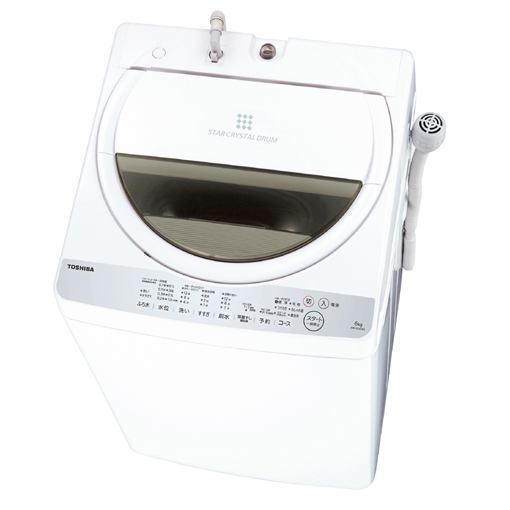 【ポイント10倍!】東芝 AW-6G6-W 全自動洗濯機 (洗濯6.0kg)グランホワイト