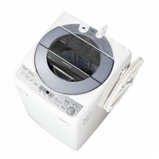 【無料長期保証】シャープ ES-GV8C-S 全自動洗濯機 (洗濯8.0kg) シルバー