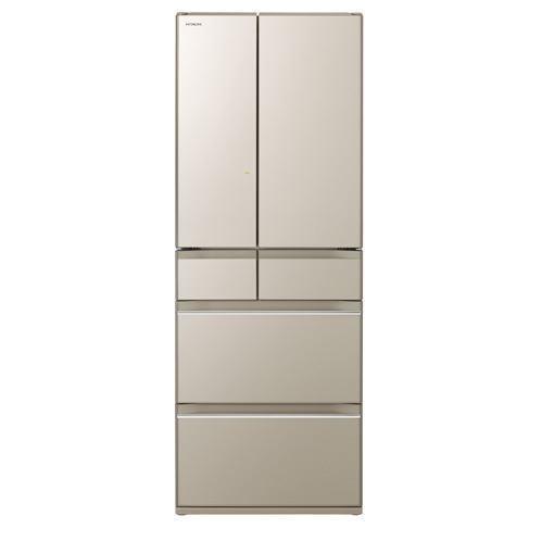 【無料長期保証】日立 R-HW60K-XN 6ドア冷蔵庫(602L・フレンチドア) プレーンシャンパン