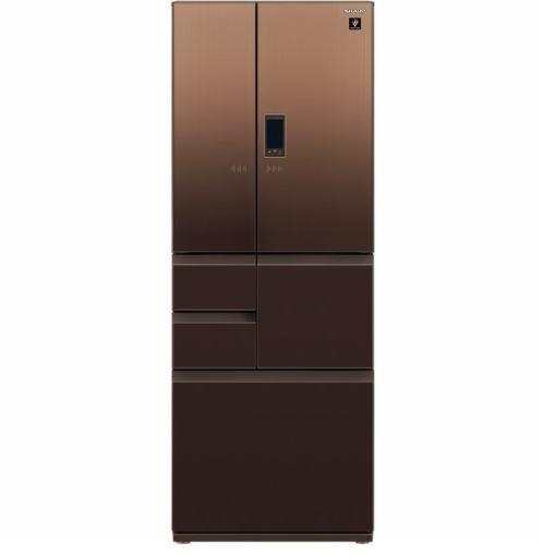 【無料長期保証】シャープ SJ-GA55E-T 6ドア冷蔵庫 (551L・フレンチドア) エレガントブラウン系