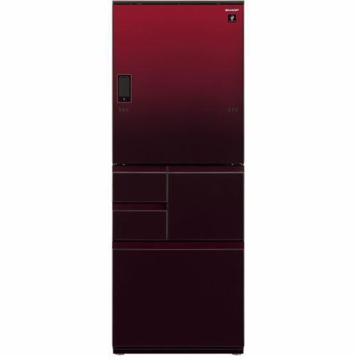 【無料長期保証】シャープ SJ-WA50E-R 5ドア冷蔵庫 (502L・どっちもドア) グラデーションレッド系