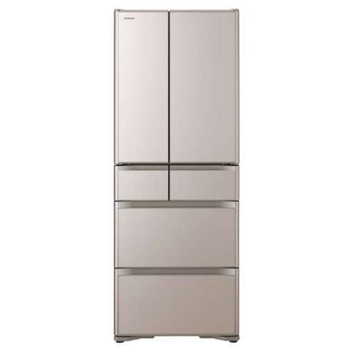 【無料長期保証】日立 R-XG56J-XN 6ドア冷蔵庫(555L・フレンチドア) クリスタルシャンパン