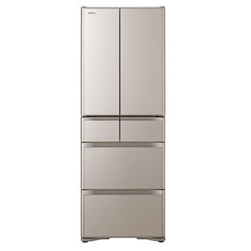 【無料長期保証】日立 R-XG43J-XN 6ドア冷蔵庫(430L・フレンチドア) クリスタルシャンパン