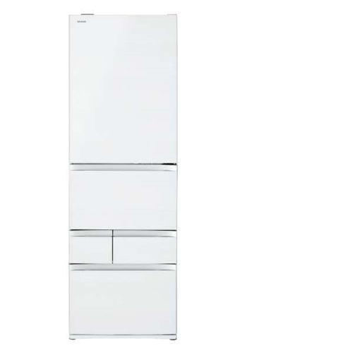 【無料長期保証】東芝 GR-R470GWL-UW VEGETA(ベジータ) 5ドア冷蔵庫(465L・左開き) クリアグレインホワイト