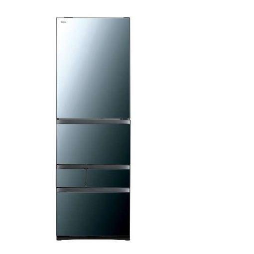 【無料長期保証】東芝 GR-R470GW(XK) VEGETA(ベジータ) 5ドア冷蔵庫(465L・右開き) クリアミラー