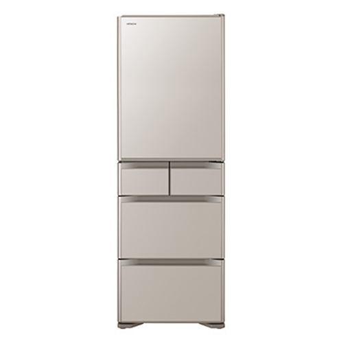 【無料長期保証】日立 R-S50J-XN 5ドア冷蔵庫 (501L・右開き) クリスタルシャンパン