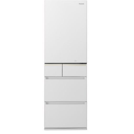 【無料長期保証】パナソニック NR-E414GVL-W 5ドアパーシャル搭載冷蔵庫(406L・左開き) スノーホワイト