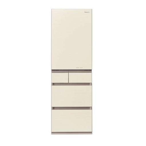 【無料長期保証】パナソニック NR-E454PX-N 5ドアパーシャル搭載冷蔵庫(450L・右開き) シャンパンゴールド