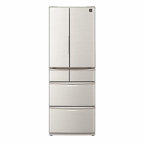 【無料長期保証】シャープ SJ-F462E-S 6ドア冷蔵庫 (455L・フレンチドア) シルバー系