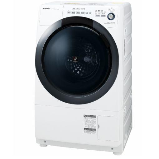 【無料長期保証】シャープ ES-S7D-WL ドラム式洗濯乾燥機 (洗濯7.0kg/乾燥3.5kg・左開き) ホワイト系