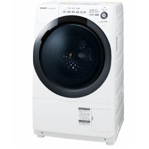 【ポイント10倍!】【無料長期保証】シャープ ES-S7D-WR ドラム式洗濯乾燥機 (洗濯7.0kg/乾燥3.5kg・右開き) ホワイト系