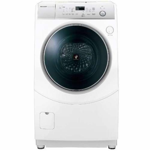 【ポイント10倍!】【無料長期保証】シャープ ES-H10C-WL ドラム式洗濯乾燥機 (洗濯10.0kg /乾燥6.0kg・左開き) ホワイト系