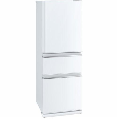 【無料長期保証】三菱 MR-CX33DL-W 3ドア冷蔵庫 CXシリーズ (330L・左開き) パールホワイト