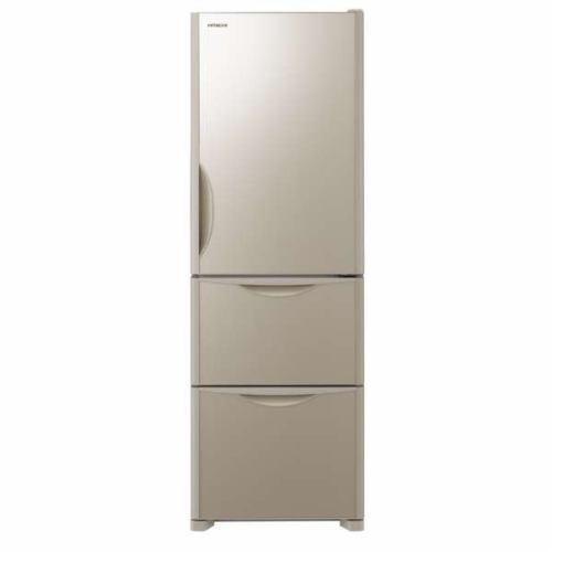 【ポイント10倍!】【無料長期保証】日立 R-S38JVL-XN 3ドア冷蔵庫 (375L・左開き) クリスタルシャンパン