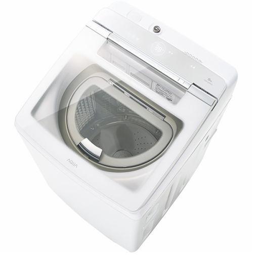 【無料長期保証】AQUA AQW-GTW90G-W 縦型洗濯乾燥機 (洗濯9.0kg /乾燥4.5kg) ホワイト