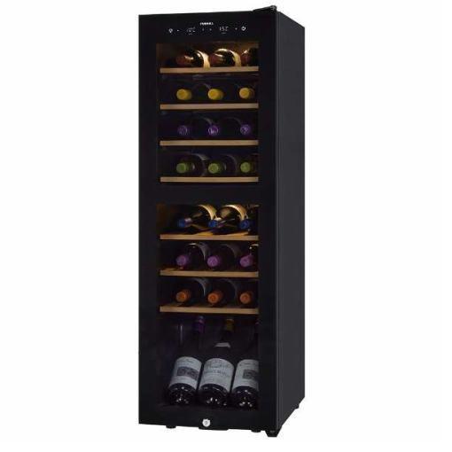 【無料長期保証】さくら製作所 SAB-90G-PB 長期熟成用ワインセラー 「FURNIEL SMART CLASS」 24本収納(最大39本) ピュアブラック