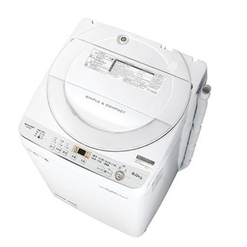 【ポイント10倍!】シャープ ES-GE6C-W 全自動洗濯機 (洗濯6.0kg) ホワイト系