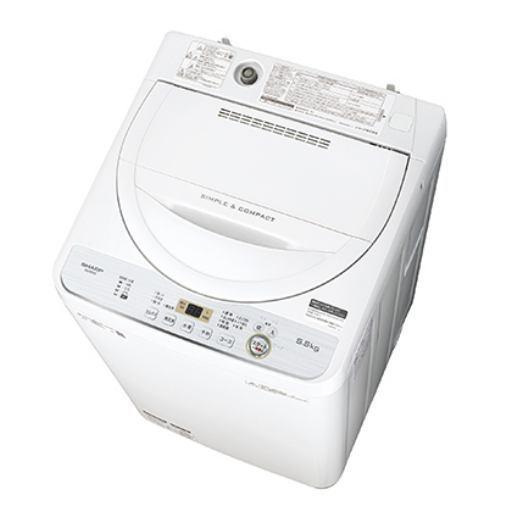【ポイント10倍!】シャープ ES-GE5C-W 全自動洗濯機 (洗濯5.5kg) ホワイト系