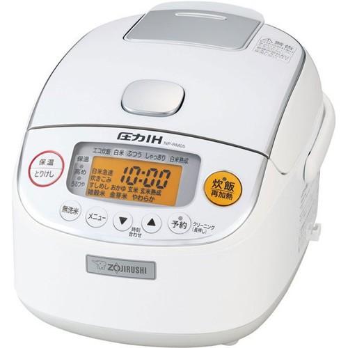 象印 NP-RM05-WA 圧力IH炊飯器 極め炊き 3合炊き ホワイト
