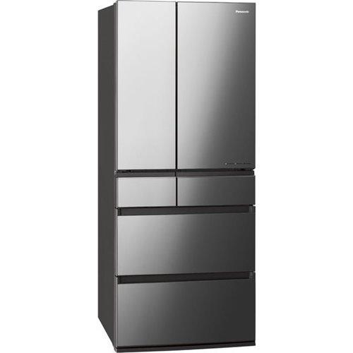 【無料長期保証】パナソニック NR-F656WPX-X パーシャル搭載6ドア冷蔵庫(650L・フレンチドア) エコナビ/ナノイーX搭載 オニキスミラー(ミラー加工)