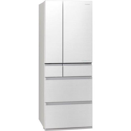 【無料長期保証】パナソニック NR-F556WPX-W 6ドア冷蔵庫(550L・フレンチドア)ナノイーX搭載 フロスティロイヤルホワイト
