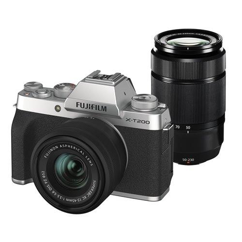 富士フイルム XT200 WZLKITS ミラーレス一眼カメラ Xシリーズ シルバー