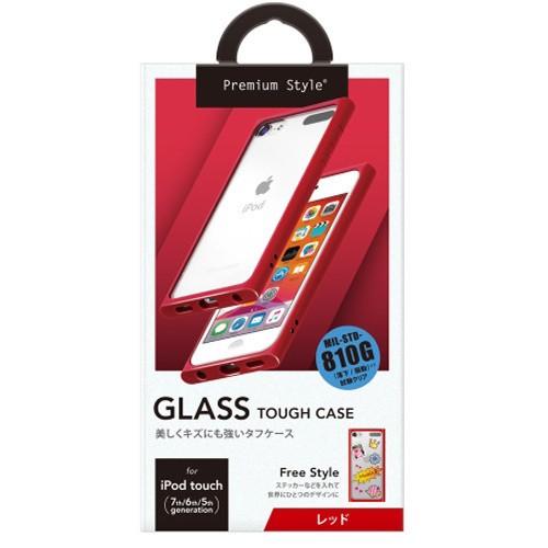 PGA PG-IT7GT03RD iPod (人気激安) touch 第7世代 4年保証 レッド 用 ガラスタフケース