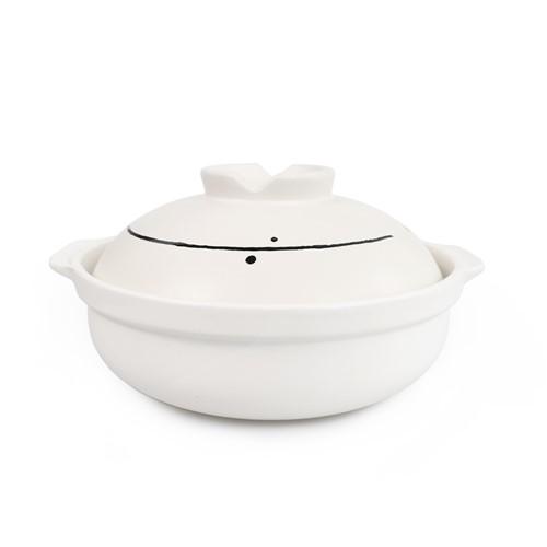 ギフト ヤマダオリジナル 土鍋 直径28.0cm×幅24.5cm×高さ14.3cm ホワイト 永遠の定番モデル