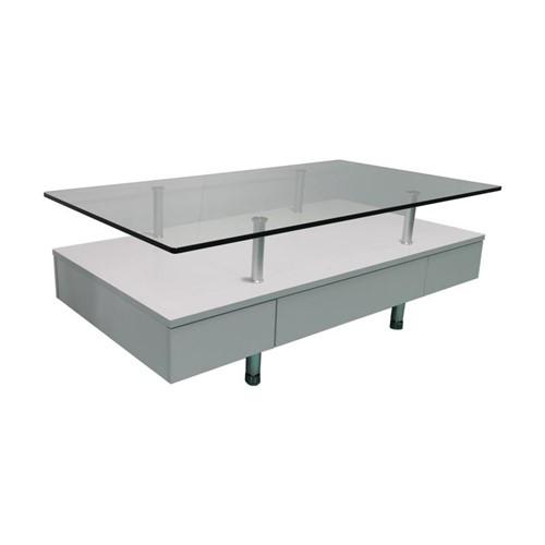 [幅120]ヤマダオリジナル センターテーブル 棚板付き 幅120x奥行65x高さ43 ホワイト