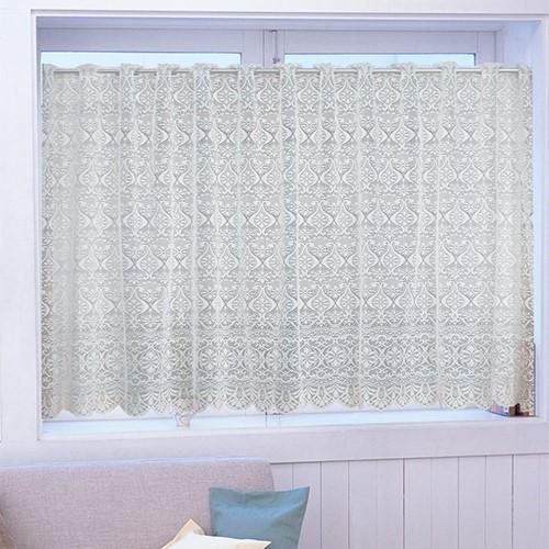 カフェカーテン シェリー2 巾100cm×丈95cm 限定モデル ホワイト 超激安