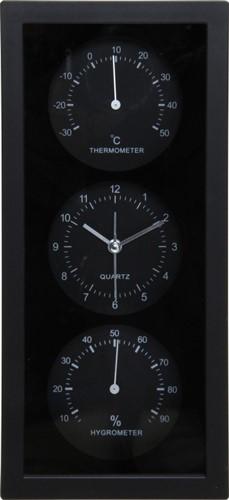 置時計温湿度計付き ダンデ縦型 未使用 ブラック 出色