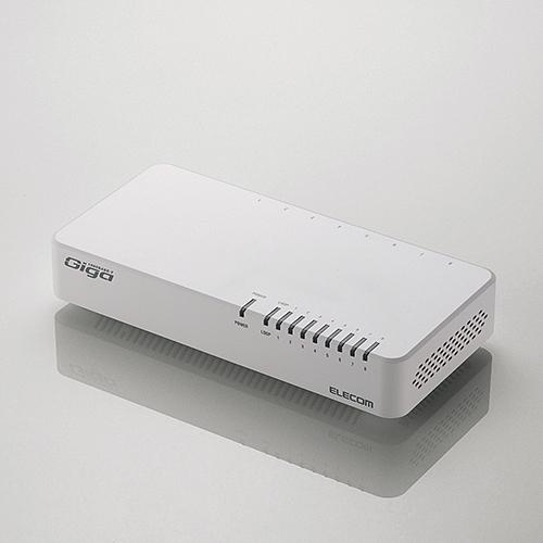 エレコム 超特価 EHC-G08PN2-JW ホワイト 人気の製品 1000BASE-T対応スイッチングハブ
