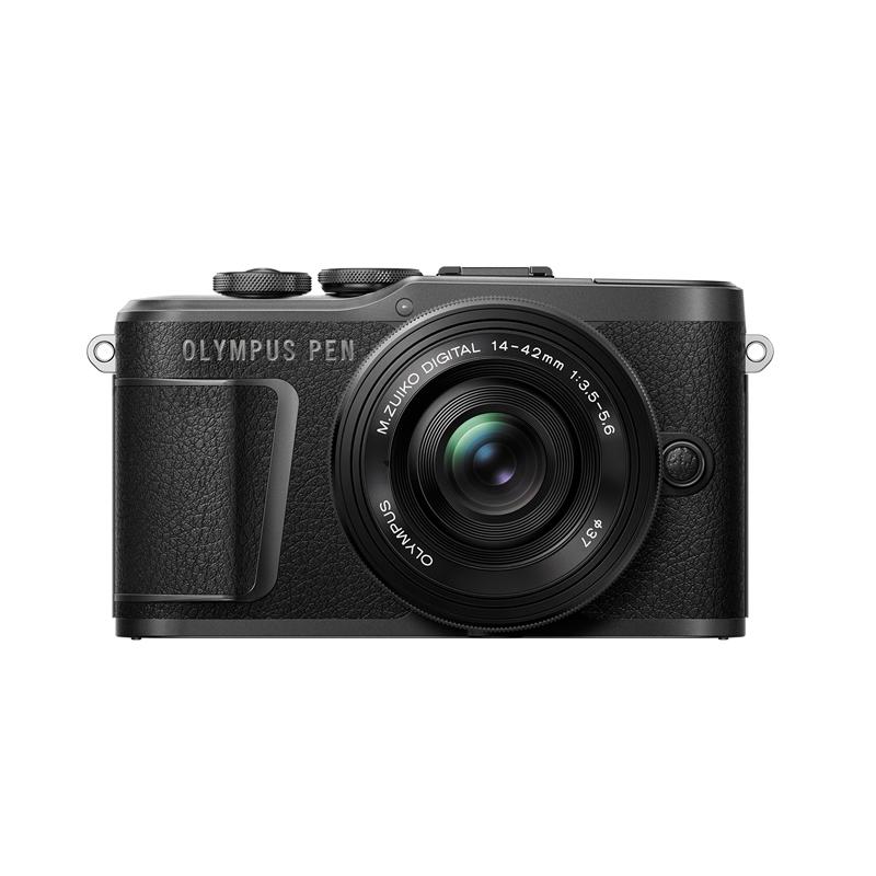 オリンパス E-PL10・14-42mmEZ レンズキット BLK ミラーレス一眼カメラ PEN ブラック