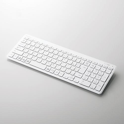 キーボード エレコム Bluetooth [ギフト/プレゼント/ご褒美] 無線 ワイヤレス 《週末限定タイムセール》 Bluetooth薄型コンパクトキーボード TK-FBP101WH
