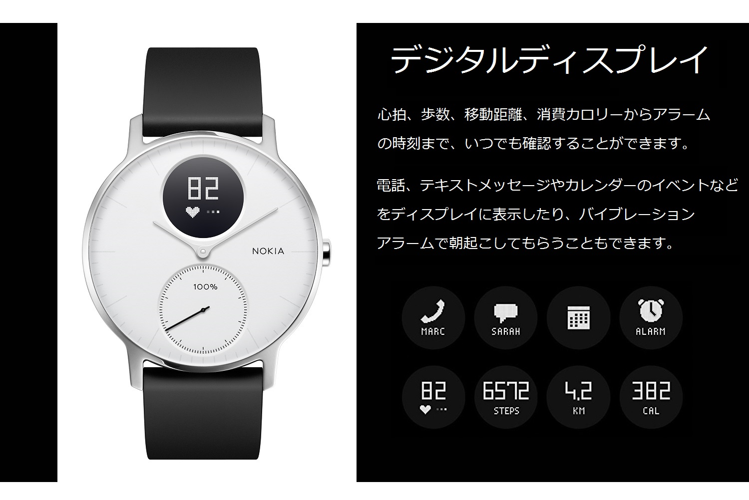 Withings Steel HR (36mm) White HWA03-36White-All-JP HWA03-36WHITE-ALL-JP