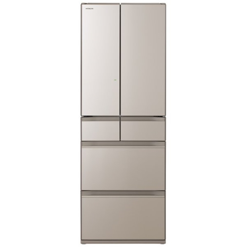 【無料長期保証】日立 R-HW48N XN 6ドア冷蔵庫 (475L・フレンチドア) クリスタルシャンパン