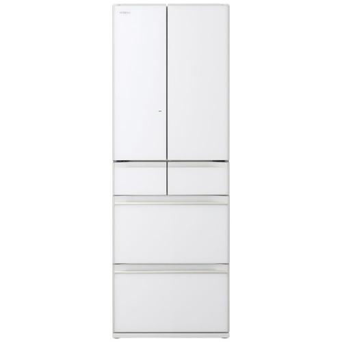 【無料長期保証】日立 R-HW48N XW 6ドア冷蔵庫 (475L・フレンチドア) クリスタルホワイト