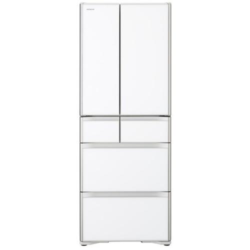 【無料長期保証】日立 R-X51N XW 6ドア冷蔵庫 (505L・フレンチドア) クリスタルホワイト