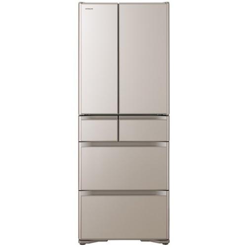 【無料長期保証】日立 R-X48N XN 6ドア冷蔵庫 (475L・フレンチドア) クリスタルシャンパン