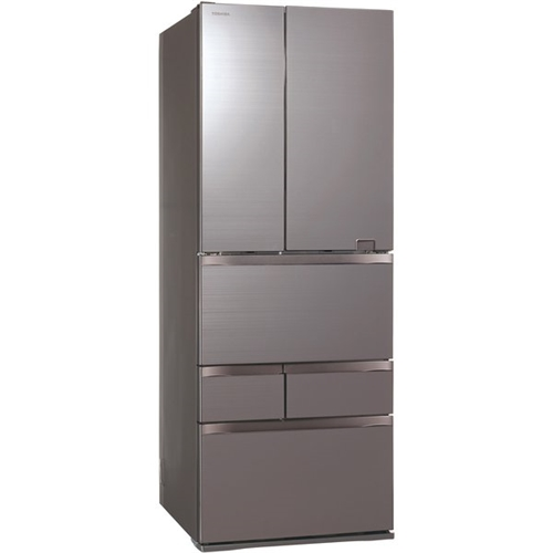 【無料長期保証】東芝 GR-S600FZ(ZH) 6ドア冷蔵庫 (601L・フレンチドア) VEGETA(べジータ) FZシリーズ アッシュグレージュ