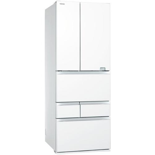 【無料長期保証】東芝 GR-S600FZ(UW) 6ドア冷蔵庫 (601L・フレンチドア) VEGETA(べジータ) FZシリーズ クリアグレインホワイト