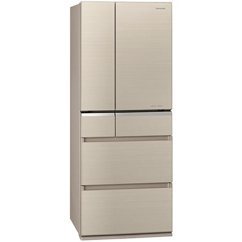 【無料長期保証】パナソニック NR-F476XPV-N 6ドアパーシャル冷凍冷蔵庫 (470L・フレンチドア) マチュアゴールド