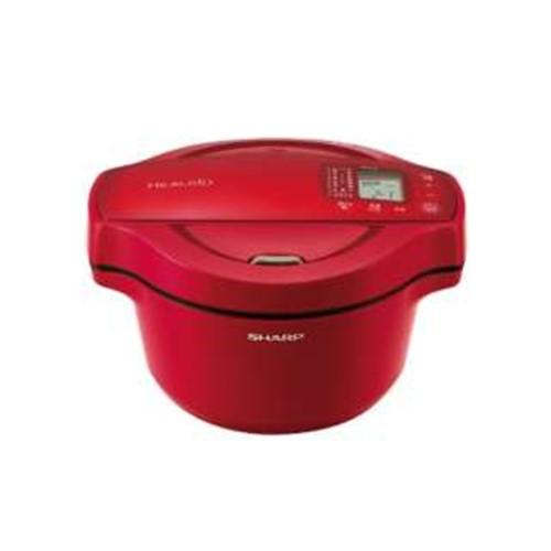 シャープ KN-HT16E-R 水なし自動調理鍋 「ヘルシオ ホットクック」(1.6L) レッド系