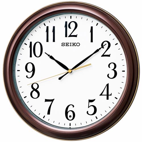 高級 セイコークロック KX234B 数字大きめ 電波掛時計 お金を節約