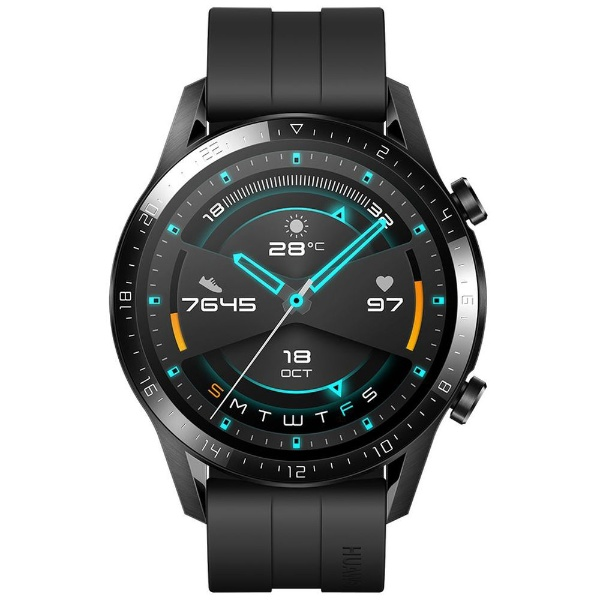 HUAWEI ファーウェイ Watch GT2 46mm BK Matte Black 2週間長時間バッテリー スマートなスポーツモード 音楽再生  血中酸素測定