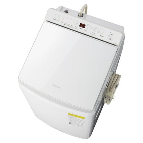 【無料長期保証】パナソニック NA-FW100K8-W 縦型洗濯乾燥機 (洗濯10kg・乾燥5kg) 泡洗浄 ホワイト