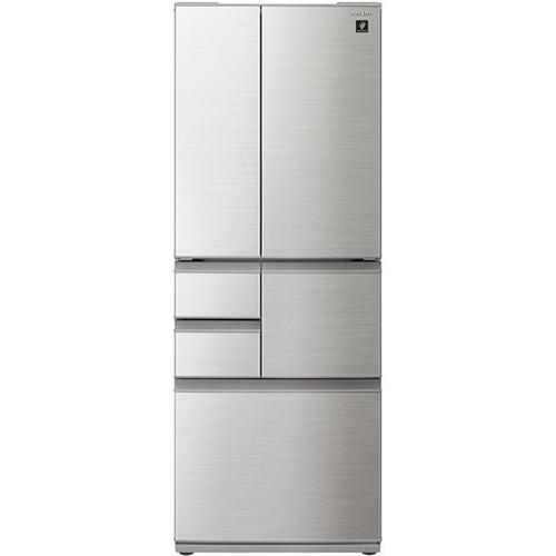 【無料長期保証】シャープ SJ-F502F-S 6ドアプラズマクラスター冷蔵庫 (502L・フレンチドア) シャインシルバー