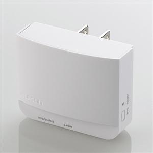 全店販売中 エレコム WTC-300HWH 無線LAN中継機 11n 最大300Mbps コンセント直付け g [正規販売店] b