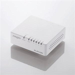 エレコム EHC-G05PA-JW-K 1000BASE-T対応 スイッチングハブ ギフト 5ポート NEW マグネット付 ホワイト