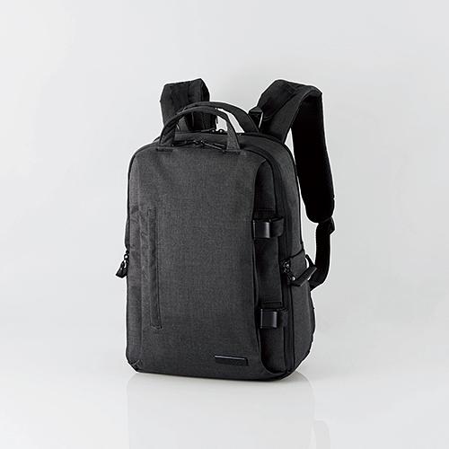 エレコム DGB-S038BK 2STYLEカメラバックパック(ハイグレード・Mサイズ) ブラック